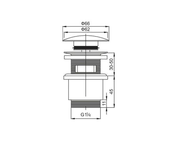 cezares Донный клапан CEZARES CZR-SAT5-02 с переливом бронза