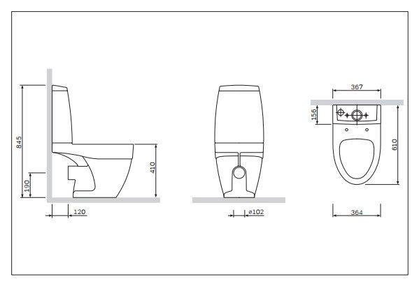 am.pm Унитаз Am.Pm Bliss L C538607SC напольный с быстросъемным сиденьем с микролифтом