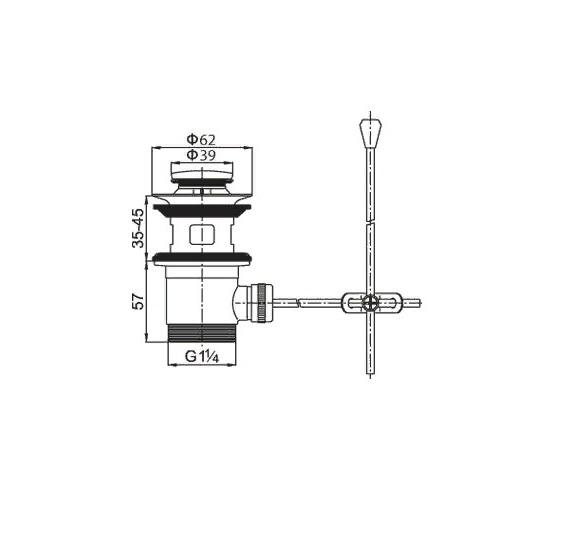 cezares Донный клапан CEZARES CZR-SA2-01 с переливом хром