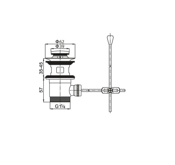 cezares Донный клапан CEZARES CZR-SA2-03 с переливом золото