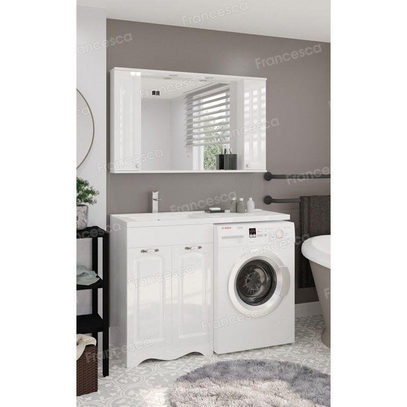 Тумба с раковиной под стиральную машину Francesca Империя 120 белый: купить в интернет-магазине сантехники!