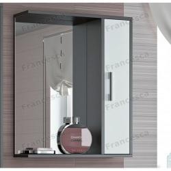 Зеркальный шкаф Francesca Eco 60V венге-белый: купить в интернет-магазине сантехники!