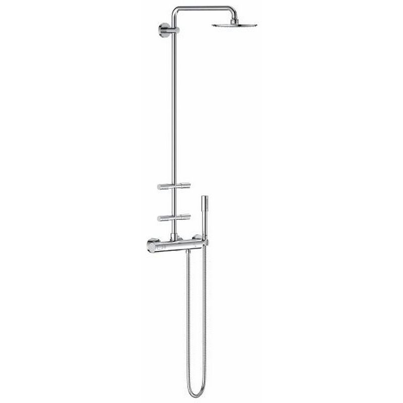 Душевая система Grohe Rainshower 27374000 System 210 мм, 4 бок. Форсунки, термостат